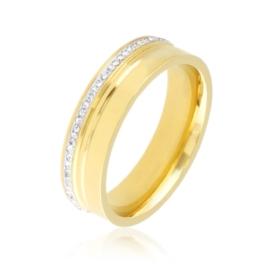 Obrączka stalowa z kryształkami Xuping PP3875