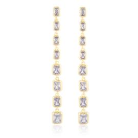 Kolczyki wiszące z kryształkami EAP21427