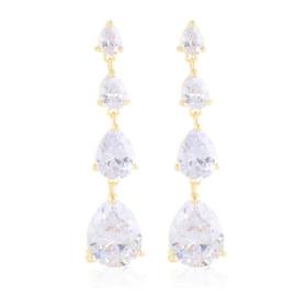 Kolczyki wiszące z kryształkami Moonriver EAP21430