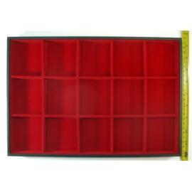 Ekspozytor - tacka czerwona, boxy