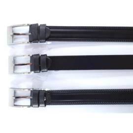Pasek skórzany - czarny - 3/100 (mix wzorów)