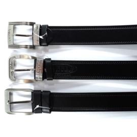 Pasek skórzany - czarny - 4/115 (mix wzorów)