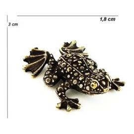 Figurka metalowa - żabka - 10sz/op FZ32
