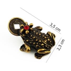 Figurka metalowa - żabka - 10szt/op FZ2