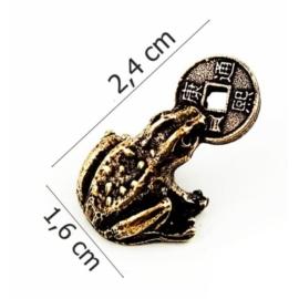 Figurka metalowa - żabka - 10szt/op FZ16