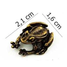 Figurka metalowa - żabka - 10sz/op FZ21
