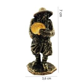 Figurka metalowa - Żyd z monetą FR10