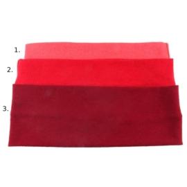 Opaska do włosów - czerwona, wzór 2 - szer.7cm