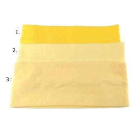Opaska do włosów - żółta - wzór 2 - szer.7cm