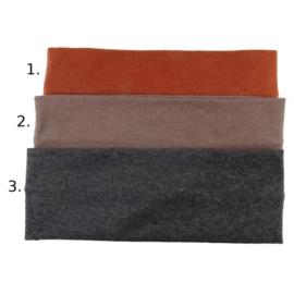 Opaska do włosów - szarobrązowa wzór 2 - szer.7cm