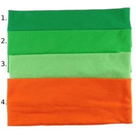 Opaska do włosów - pomarańczowa- wzór 4 - szer.7cm