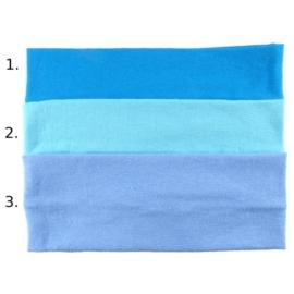 Opaska do włosów - niebieska, wzór 1 - szer.7cm