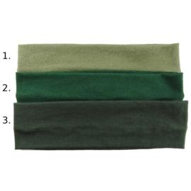 Opaska do włosów - ciemnozielona,wzór 3 - szer.6cm