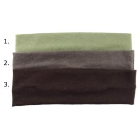 Opaska do włosów - czarnobrązowa,wzór 3 - szer.6cm