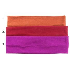 Opaska do włosów - karminowa, wzór 3 - szer.6cm