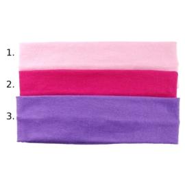 Opaska do włosów - różowa, wzór 1 - szer.6cm