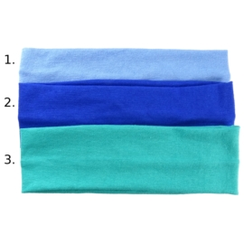 Opaska do włosów - niebieska, wzór 2 - szer.6cm