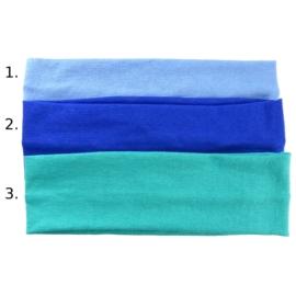 Opaska do włosów - jasnoniebieska,wzór 1- szer.6cm