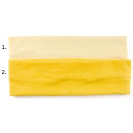 Opaska do włosów - żółta, wzór 2 - szer.6cm