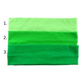 Opaska do włosów - zielona, wzór 2 - szer.6cm