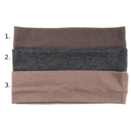 Opaska do włosów - brązowa, wzór 1 - szer.6cm