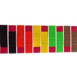 Wsuwki do włosów - mix kolorów - 100szt (dł. 6cm)