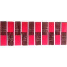 Wsuwki do włosów - brązowe - 100szt dł. ok. 4,5cm