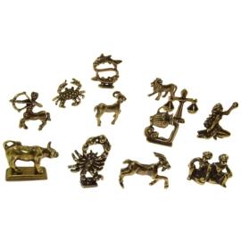 Figurka metalowa - zestaw zodiaków 12szt/op ZD13