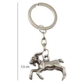 Brelok metalowy - koza srebrna - 12szt/op BM8