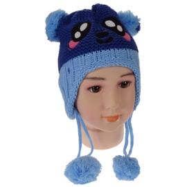 Czapka dziecięca - niebieska - obwód: 36cm CN61