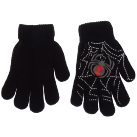 Rękawiczki chłopięce - czarne - długość 15cm RK86