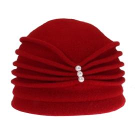 Kapelusz z dzianiny - czerwony 876 L - D289