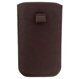 Etui na telefon - brązowe - 17cm x 10cm ET4