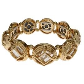 Bransoletka - złota - obw:17cm BRA163