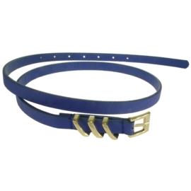 Pasek damski - niebieski - szer:1,5cm PE1