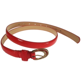 Pasek damski - czerwony - szer:2cm PE5