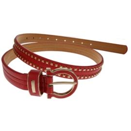 Pasek damski - czerwony - szer:2,5cm PE10