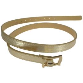 Pasek damski - złoty metalik - szer:2cm PE27