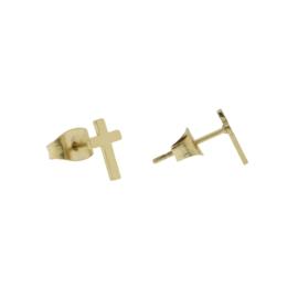 Kolczyki pozłacane - krzyżyki - 0,9cm EAP774
